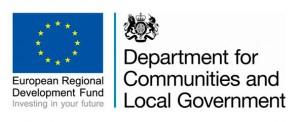 DCLG ERDF logo